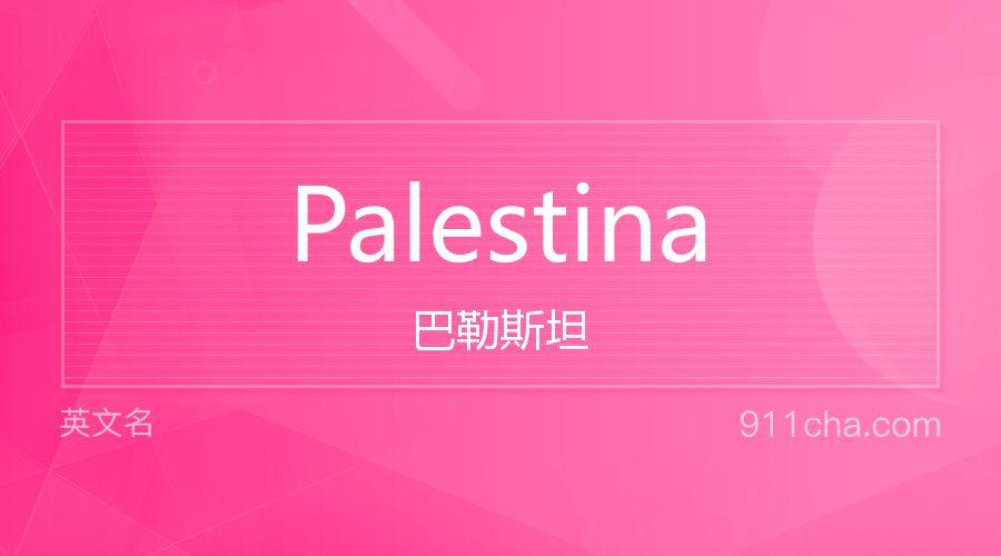 Palestina 巴勒斯坦