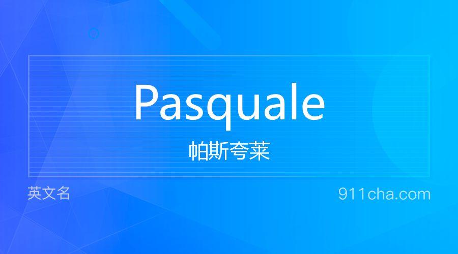 Pasquale 帕斯夸莱