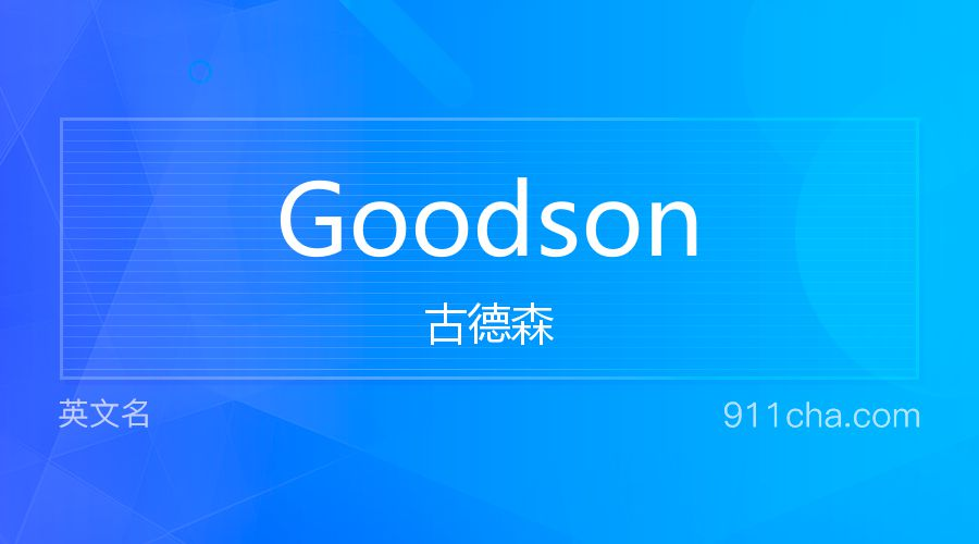 Goodson 古德森