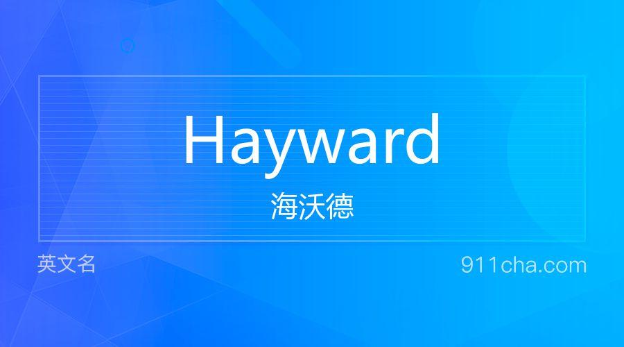 Hayward 海沃德